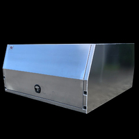 LIFT OFF Dual Cab Canopy 1800x1800x860 (3 Door) Mill Finish